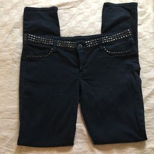 Genetic Denim studded black jeans